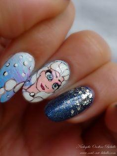 Bibulle Blog Nail Art: Nail Art Disney - La Reine des Neiges ! (Frozen)