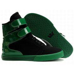 Supra TK Society High Tops Black/Green Men's