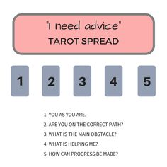 ?I Need Advice? Tarot Spread How to use tarot for self care with this simple spread. When anxiety and depression won't lift, this is the only spread you need to snap out of the funk.