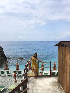 For Love and Lemons Dress in Cinque Terre, Italy