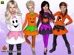Fashionable halloween dress for your child girls. Ideal for halloween party.  Found in TSR Category 'Sims 3 Female Clothing'