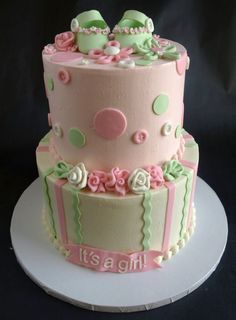 BUTTER CREAM BABYSHOWWER CAKES | Baby Shower Cakes & Kids' Cakes - Laurie Clarke Cakes, Portland Oregon