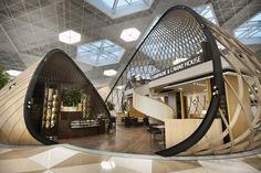 Heydar Aliyev Airport by Autoban - Frameweb #airport #design #interiordesign #interiors