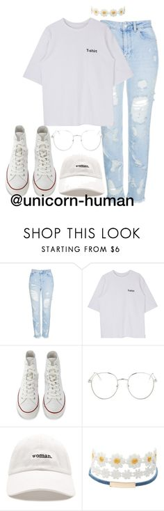 """Untitled #2910"" by unicorn-human ❤ liked on Polyvore featuring Topshop, Converse, Forever 21 and Charlotte Russe"