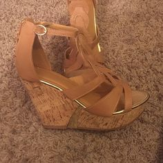Tan wedges Never worn tan wedges Shoes Wedges