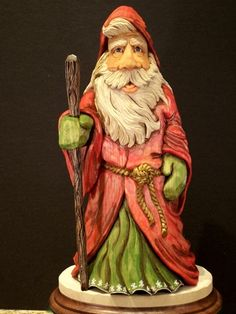 Old World Santa (another version)  by Mark Akers