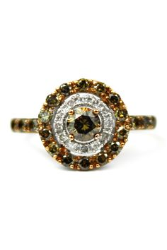 Two-Tone White & Champagne Diamond Ring - 0.75 ctw by Savvy Cie on @HauteLook $333.97