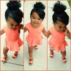 cutie in salmon colored dress