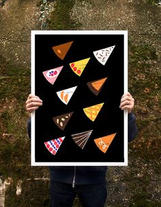 """A party without cake is just a meeting - Poster print  20""""x27"""" - archival fine art giclée print $85"""