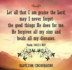 Psalm 103 : 2-3