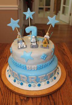 Lego Star Wars 1st Birthday Cake!