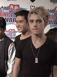 dalton gets down GIF and what is will smiling at?