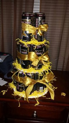 Rockstar energy drink cake I made for a friend's bday