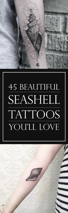 45 Beautiful Seashell Tattoos You'll Love