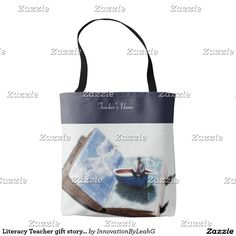 Literacy Teacher gift storybook Personalized Tote Bag