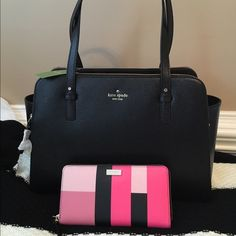 Kate Spade Bundle Grand Street Lydia Leather Handbag. Grand Street Grainy Vinyl Neda Colorblock Wallet. Bought are new and never used. Excellent condition. Care cards are inside. kate spade Bags Satchels