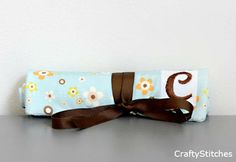 Fabrics Quilted Jewelry Rolls in Flower Shower Baby with Monogram - Create your own. $35.00 USD, via Etsy.