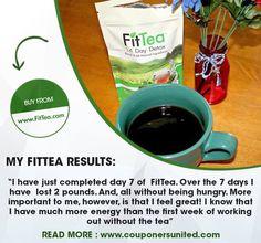 """Feeling great & getting more energy."" #FitTea #HealthyLife #Tea #HealthyLiving #Fitness #Health #Detox #Detoxification www.fittea.com/"