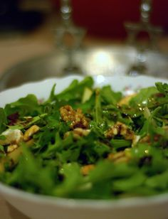 Arugula feta apple & walnut salad