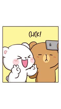 Cute Couple Cartoon, Cute Cartoon Pictures, Cute Love Gif, Cute Cat Gif, Cute Love Wallpapers, Cute Cartoon Wallpapers, Wallpaper Fofos, Bear Gif, Cute Bear Drawings