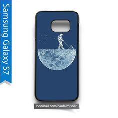 Astronaut Lawn Moon Funny Samsung Galaxy S7 Case Cover