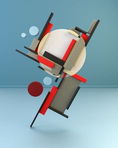 A rendering from the mighty folks from with their series entitled: Suprematism & Constructivism, based on Russian Art from Wall Sculptures, Sculpture Art, Russian Constructivism, Geometric Sculpture, Composition Art, Contemporary Abstract Art, Art Base, Geometric Lines, Geometric Designs