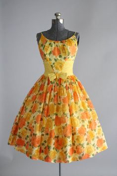 Vintage 1950s Dress   50s Garden Party   by TuesdayRoseVintage Pin Up  Vintage ddac7c0bb80be