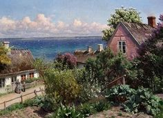 Peder Monsted -   Summer Day in Aalsgaarde.