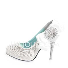 Wedding Shoes - $159.99 - Leatherette Stiletto Heel Closed Toe Pumps Wedding Shoes With Bowknot Rhinestone Sequin (047011870) http://jjshouse.com/Leatherette-Stiletto-Heel-Closed-Toe-Pumps-Wedding-Shoes-With-Bowknot-Rhinestone-Sequin-047011870-g11870