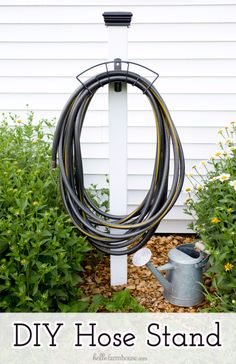 DIY Ideas for the Outdoors - DIY Hose Stand - Best Do It Yourself Ideas for Yard Projects, Camping, Patio and Spending Time in Garden and Outdoors - Step by Step Tutorials and Project Ideas for Backyard Fun, Cooking and Seating http://diyjoy.com/diy-ideas-outdoors