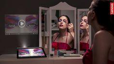 Adori i tutorial sul trucco, ma non sai dove mettere il tablet mentre segui le istruzioni? Nessun problema con #YOGATab3pro e il suo proiettore integrato! Beauty Make Up, Makeup Tutorials, Yoga, Website, Make Up Tutorial