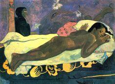 """"""" Lo spirito dei morti veglia"""", Paul Gauguin, 1892. Olio su tela, Albright-Knox Art Gallery di Buffalo"""
