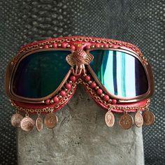 Goggles:Gypsy Elephant Aviator style for Burning