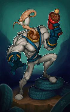 Earthworm Jim 2 by DQuinn89.deviantart.com on @DeviantArt