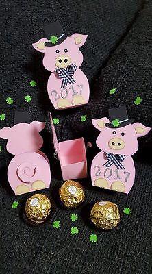 10x Glücks-Schweine-Goodies 2017 ,, zum befüllen,,Handarbeit