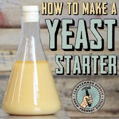 How to make a yeast starter Brewing Recipes, Homebrew Recipes, Beer Recipes, Coffee Recipes, Make Beer At Home, How To Make Beer, How To Brew Beer, Brew Your Own Beer, Home Brewery