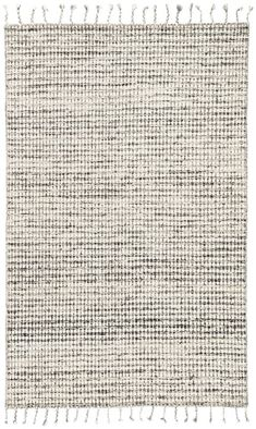 Finnell Hand-Woven Ivory/Black Area Rug