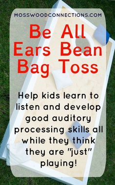 Be All Ears Bean bag Toss auditory processing activity Help kids learn to listen and develop good auditory processing skills through play