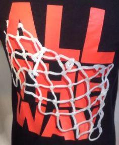Mens Adidas T Shirt Medium All The Way Basketball Net Graphic Black
