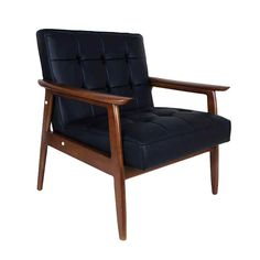 Ha!  just like the chairs at Purdue in the partially furnished Married Students Apartments back in the 70s...... left over from the 60s.........they are comfortable and I guess they never go out of style..........Alistair Arm Chair in Black | dotandbo.com