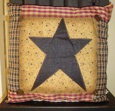 Primitive Star Patchwork Pillow