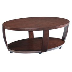 Have to have it. Magnussen T1579 Sotto Wood Oval Coffee Table $239.99