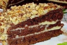 """Have a sweet tooth or want to treat your guests? Chocolate cake with kefir """"Fiction"""" in the home best suited for this. This is a very simple recipe baking. Food Cakes, Cake Recipes, Dessert Recipes, Desserts, Chocolate Recipes, Chocolate Cake, Kefir Recipes, Most Delicious Recipe, Coco"""