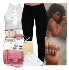 """✨✨✨"" by saucinonyou999 ❤ liked on Polyvore featuring Chanel, MICHAEL Michael Kors, NIKE and Spitfire"