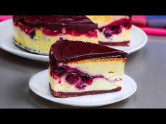 Iata ce iese daca amesteci crema de branza, cirese si ciocolata | SavurosTV - YouTube Cake Factory, Kakao, Cheesecake, Ice Cream, Desserts, Food, Sweets, Deserts, Bakken