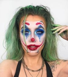 (notitle) - halloween makeup - Halloween MakeUp and Kostume Halloween Tags, Joker Halloween Makeup, Halloween Makeup Looks, Halloween Zombie, Halloween Costumes, Circus Makeup, Clown Makeup, Scary Makeup, Horror Makeup