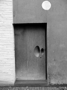 Gouged And Sculpted Door Handle (Holes In Walls)