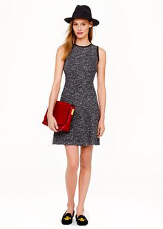 tweed dress #jcrew