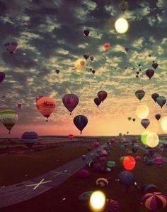 #Ballonfahrt #Herbst #Himmel