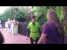 Meeting Spieling Peter Pan at Disneyland - YouTube